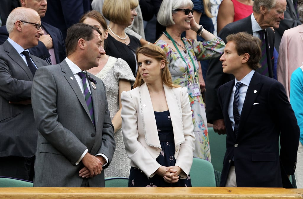 Princess Beatrice and Dave Clark watched a tennis match in London together.
