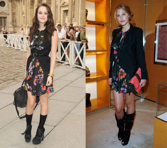 Leighton Meester and Catherine McNeil Wear the Same Louis Vuitton Floral Dress