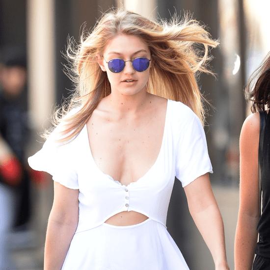 Gigi Hadid Wearing White Minidress