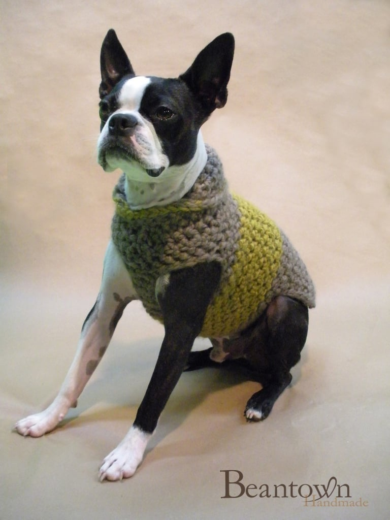 Toffee High Collar Dog Sweater, $50