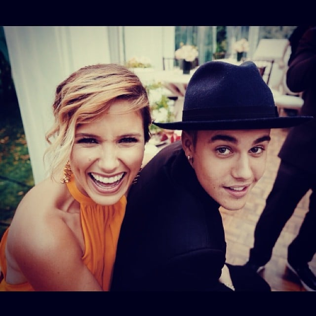 Justin Bieber hung out with Sophia Bush at his friend Scooter Braun's wedding. Source: Instagram user sophiabush