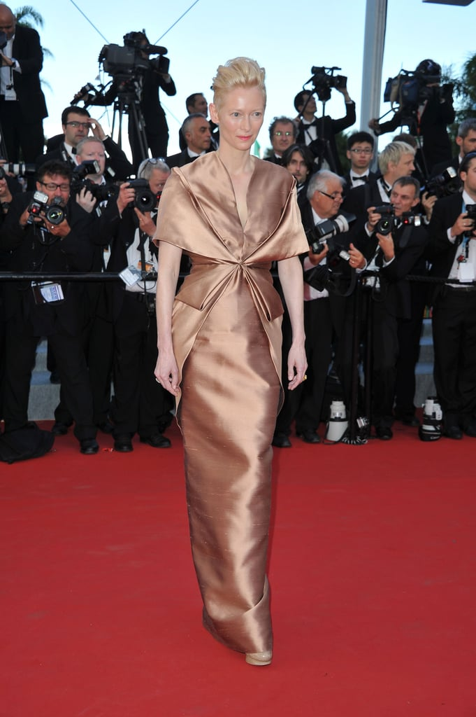 Tilda Swinton stepped onto the red carpet for the opening of the Cannes Film Festival and the premiere of Moonrise Kingdom.
