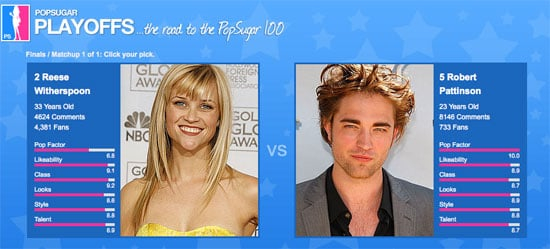 Vote in the Final Round of the PopSugar 100 — It's Reese vs. Rob!