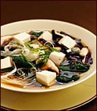 Fast & Easy Dinner: Warm Soba with Spinach and Tofu