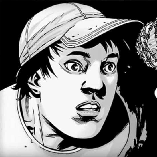 Negan Killing Glenn in The Walking Dead Comic Books