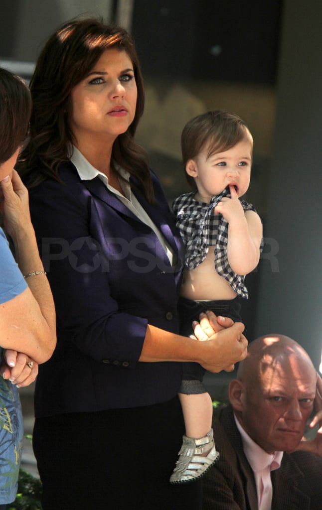 Tiffani and Harper watched the action from the sidelines.
