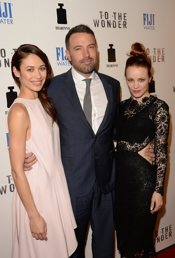 Olga Kurylenko, Ben Affleck and Rachel McAdams attended the premiere of To The Wonder in Hollywood on April 9.
