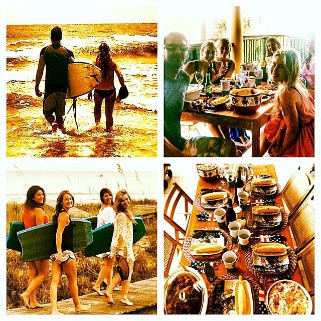 Tara Lipinski shared pictures of her fun beach day. Source: Instagram user taralipinski