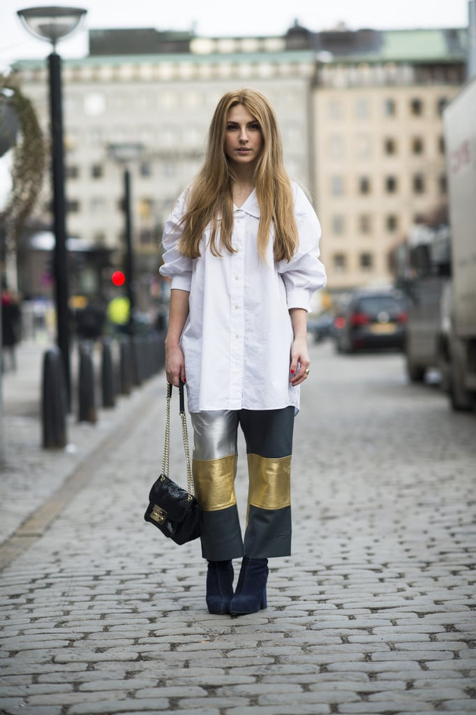 Turn up the outfit interest any time of year with a pair of patchwork pants.  Source: Le 21ème | Adam Katz Sinding