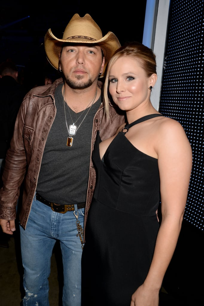 Kristen Bell and Jason Aldean at the CMT Awards.
