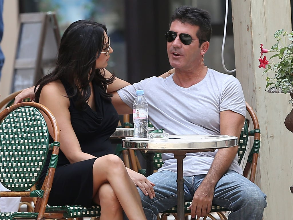 Simon Cowell and Lauren Silverman showed PDA on a lunch date in St.-Tropez.