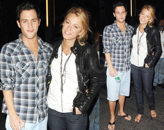 Photos of Blake Lively and Penn Badgley at Nobu in New York