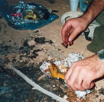 Campfire Dessert: Baked Banana Boats