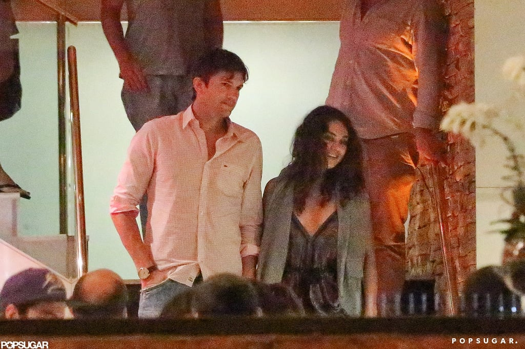 The couple spent New Year's 2013 in Brazil together.