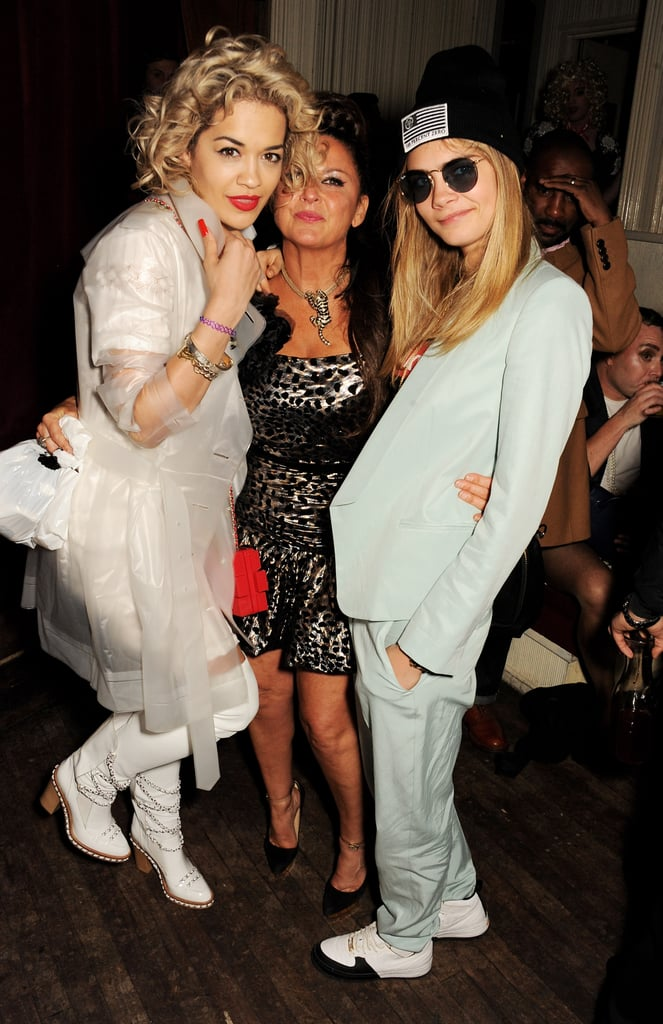 Rita Ora, Fran Cutler, and Cara Delevingne enjoyed each other's company.