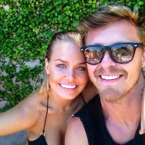 Lara Bingle was thrilled to be reunited with Max May. Source: Instagram user mslbingle