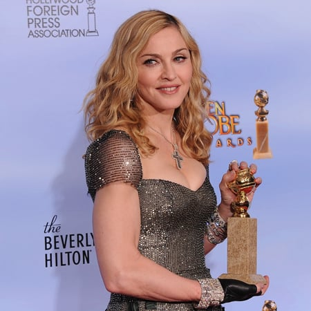 Madonna Golden Globes Press Room (Video)