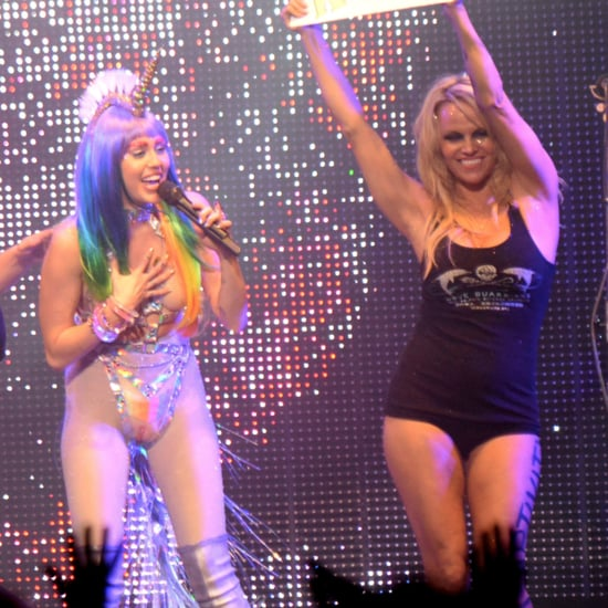 Miley Cyrus and Pamela Anderson on Stage Together 2015