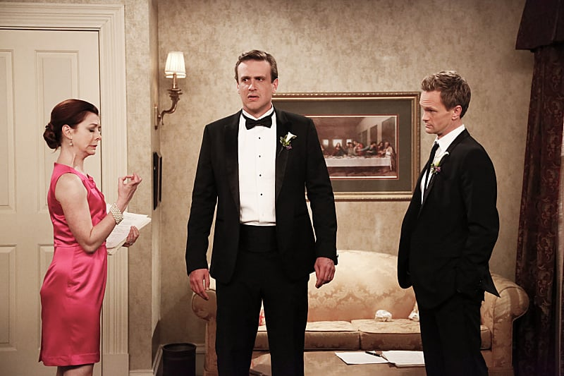 Barney freaks out a little, but if there's anyone who can help, it's Marshall and Lily.