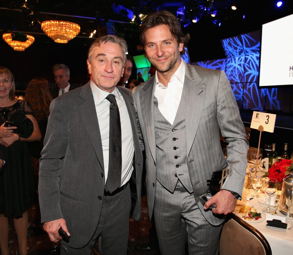 Bradley Cooper and Robert De Niro mingled at the Hollywood Film Awards gala in Los Angeles.