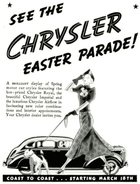 Nothing as glam as the Chrysler Easter parade.