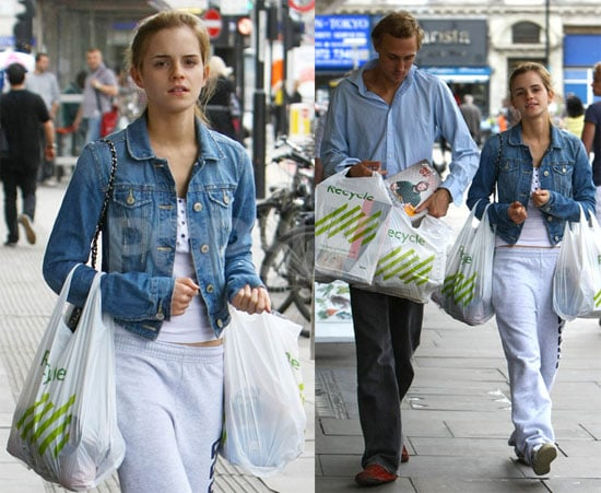 Photos of Emma Watson Grocery Shopping in London