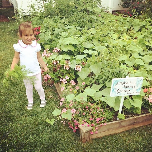 Arabella Kushner spent some time in her secret garden.  Source: Instagram user ivankatrump