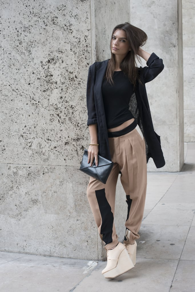 Slouchy trousers that look related to the sweatpant? A total yes for us.