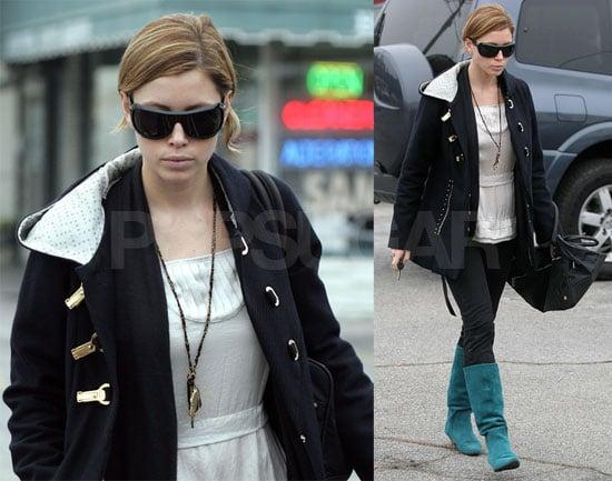 Jessica Biel Channeling Puss in Boots?