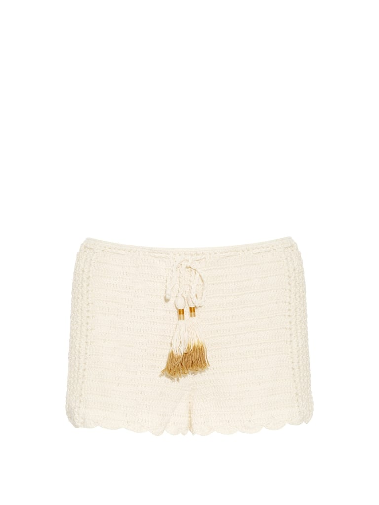 SHE MADE ME Oh Girl crochet shorts ($137)