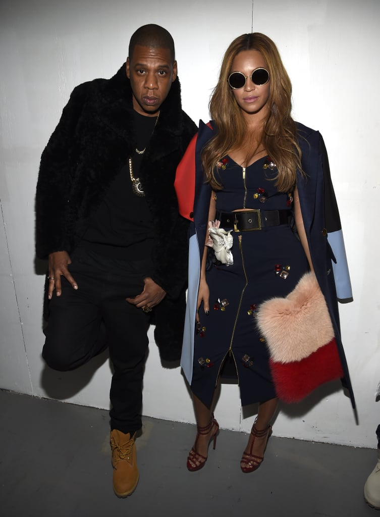 Clearly the coolest couple in the room at the Yeezy Season 1 show in February 2015.