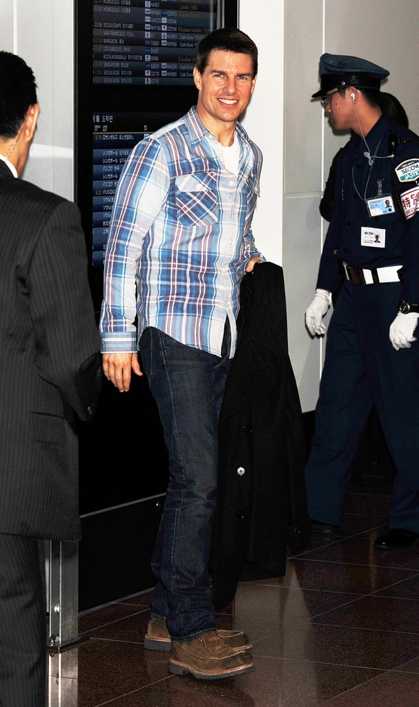Tom Cruise had a big smile in Japan.