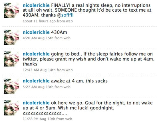 Nicole Richie Twitters About Her Pregnancy