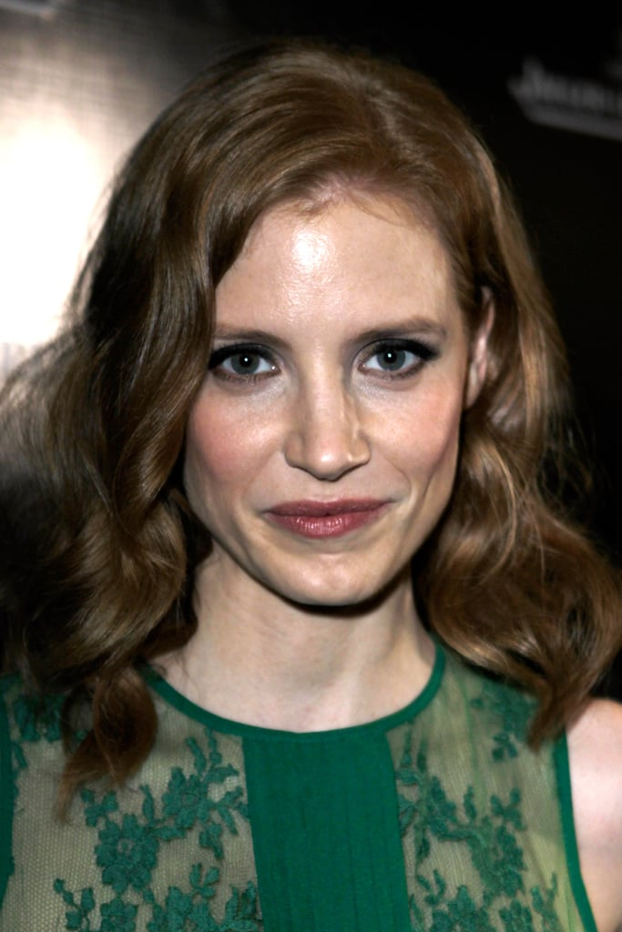 Jessica Chastain smiled at a Charlie Chaplin event.