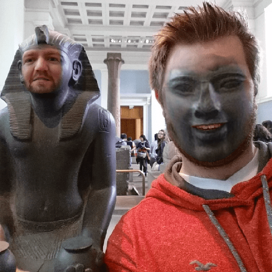 Man Face Swaps at the Museum