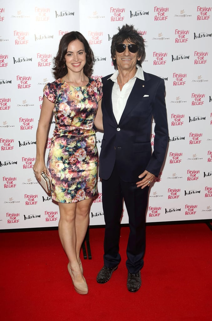 Sally Humphries and Ronnie Wood