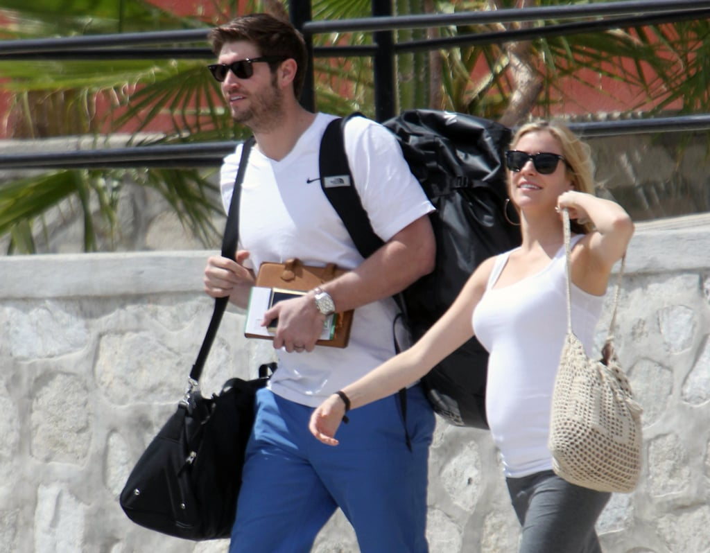 Pregnant Kristin Cavallari and her fiancé, Jay Cutler, traveled to Mexico for a friend's March 2012 wedding.