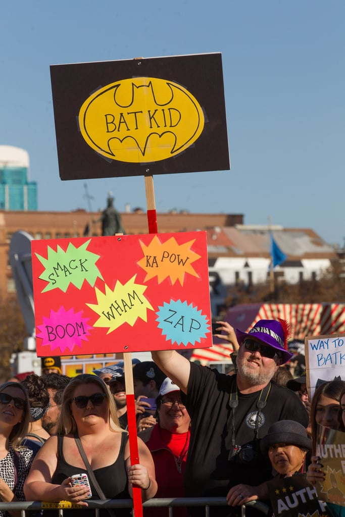Crowds gathered to celebrate with Batkid at San Francisco City Hall.