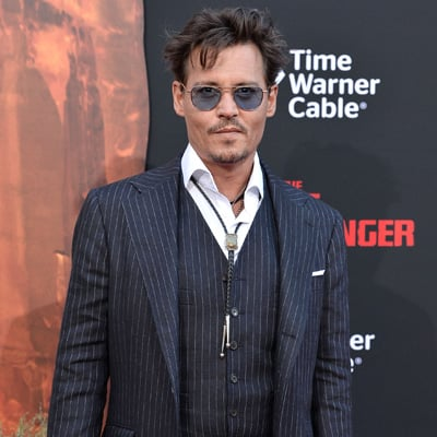 Johnny Depp and Armie Hammer at Lone Ranger Premiere