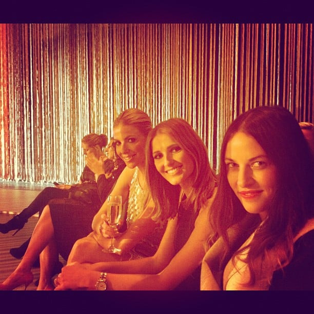 Laura Csortan, Kate Waterhouse and Kym Ellery had front row seats at Myer's Spring/Summer 2013 collection launch. Source: Instagram user hodawaterhouse