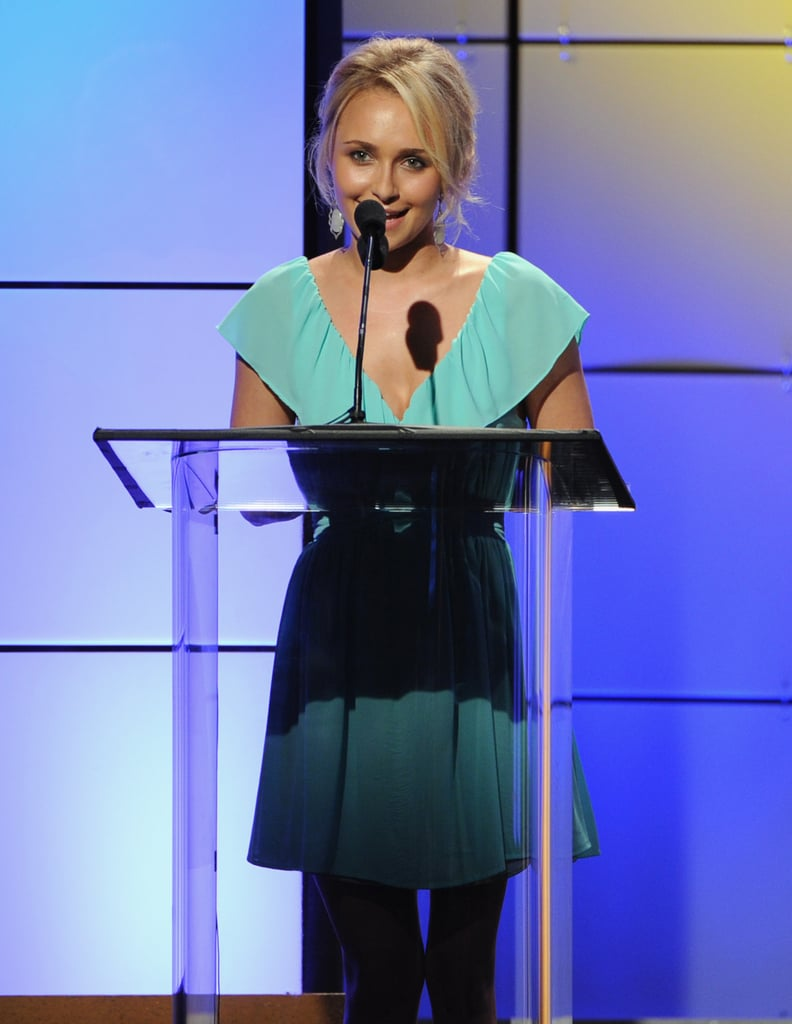 Hayden Panettiere took the stage at the Critics' Choice Television Awards in LA.