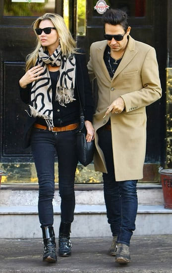 Photos de Kate Moss et Jamie Hince a Londres