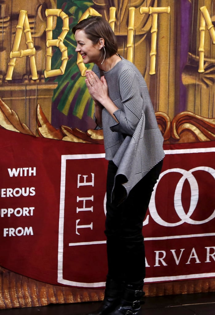 Marion Cotillard goofed around during the award ceremony at Harvard University on Thursday.