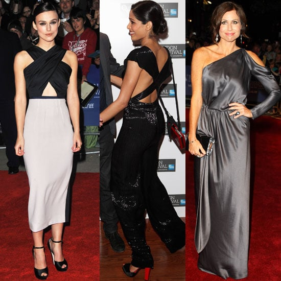 Keira Knightley, Freida Pinto in Cutout Dresses