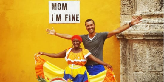 World Traveler Finds The Cutest Way To Reassure His Worried Mom