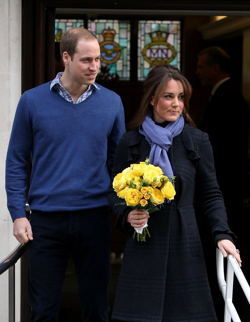 Prince William stayed close to Kate Middleton in London.