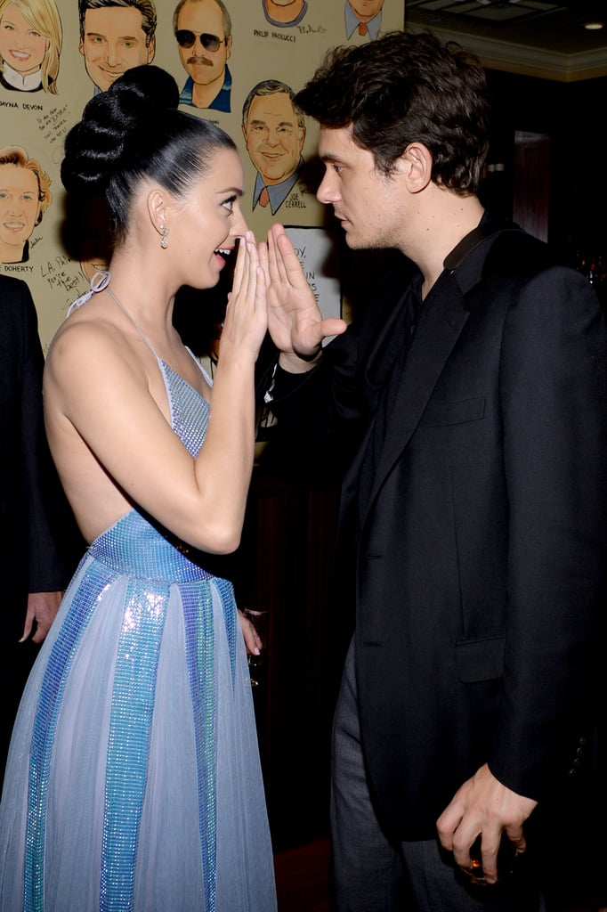 After the Grammys, Katy's boyfriend, John Mayer high fived her at an afterparty.