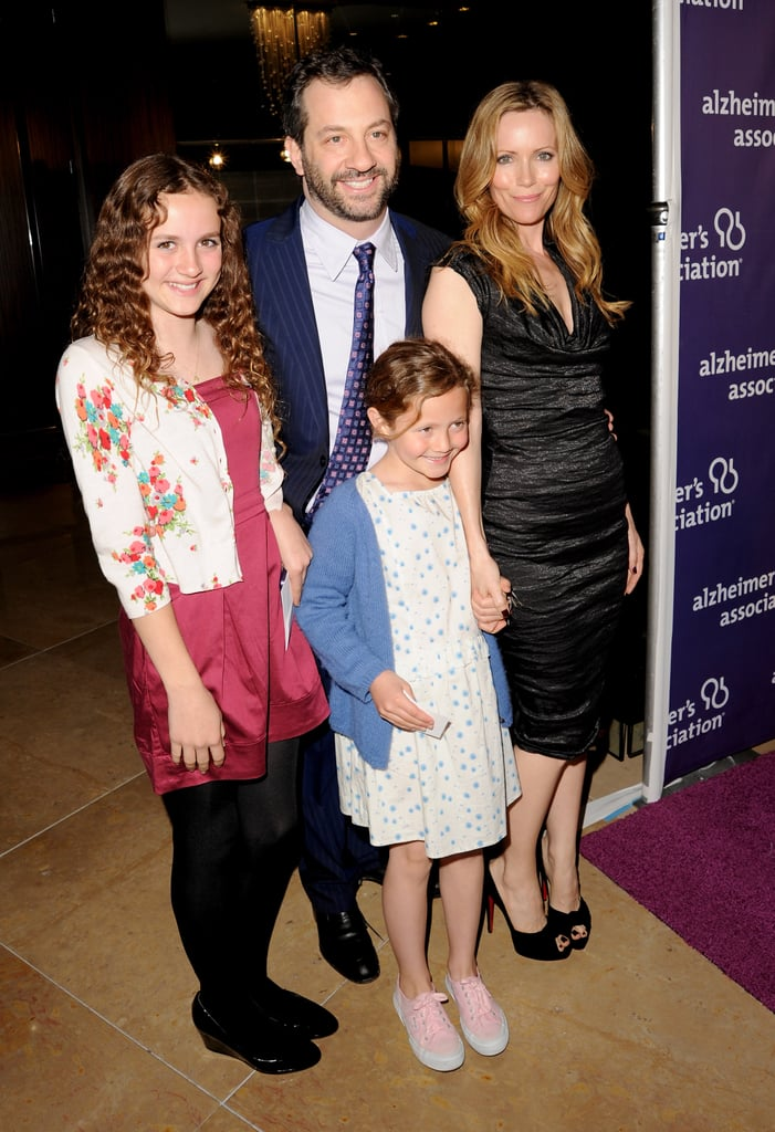Judd Apatow and wife Leslie Mann took daughters Maude and Iris to a March 2011 charity event in Beverly Hills.