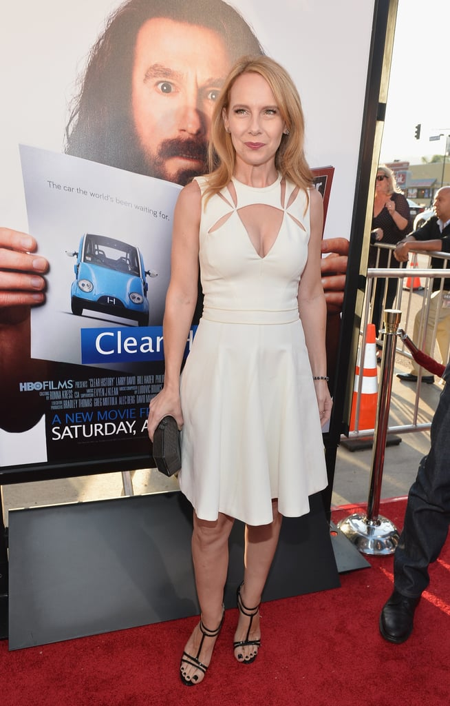 Amy Ryan wore a white number.