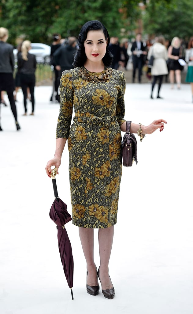Dita Von Teese at Burberry